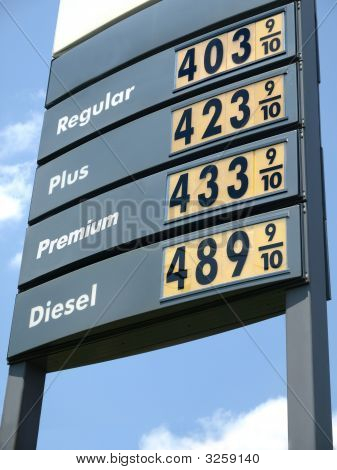 Gas Price Sign $4