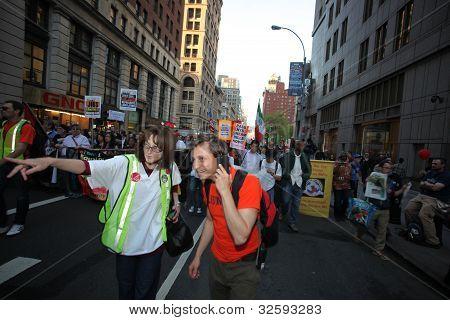 Directing Traffic Along Broadway