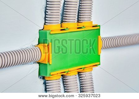 Protecting Wires From Damage With Electrical Conduit. Flexible Non-metallic Electrical Conduit Conne