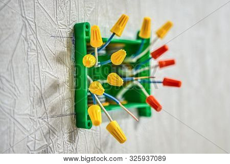 Splice electrical wires using wire connectors. Electric wire connectors are twist-on or wire nuts. End caps for electrical wires are wire caps or wire nuts type of screw-on connectors. poster