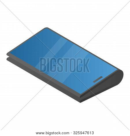 Foldable Modern Smartphone Icon. Isometric Of Foldable Modern Smartphone Vector Icon For Web Design