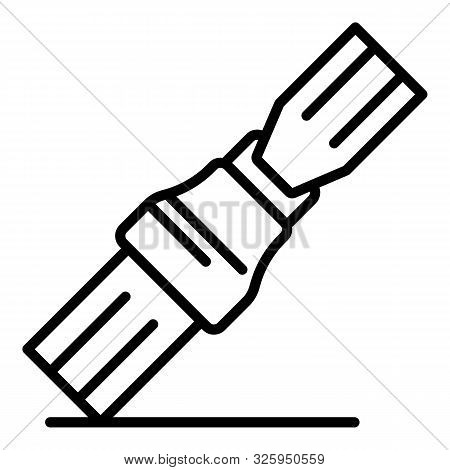 Fastened Seat Belt Icon. Outline Fastened Seat Belt Vector Icon For Web Design Isolated On White Bac