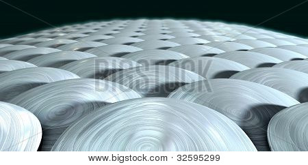 A close up perspective view of shiny metallic stylized fish scales poster