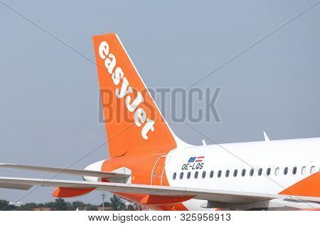 Berlin Germany - June 12, 2019: Easyjet Airline Parked At Tegel Airport Berlin Germany