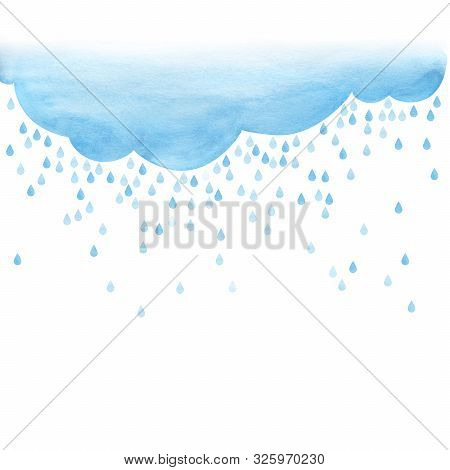 Overcast And Rain. Small Scattering Raindrops. Background Cutout Template. Large Raindrops. Big Lugh