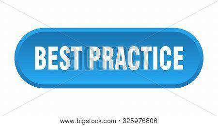 Best Practice Button. Best Practice Rounded Blue Sign. Best Practice