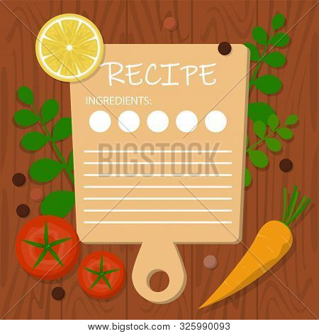 Recipe Banner Template. Blank Space For The Text, Cooking Idea