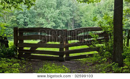 Rustical Wooden Gate