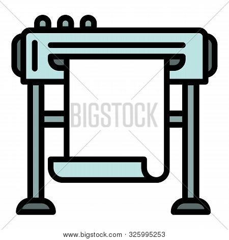 Company Plotter Icon. Outline Company Plotter Vector Icon For Web Design Isolated On White Backgroun