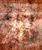 a grunge illustration of a cracked brownish surface suitable for backgrounds poster