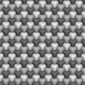 3D isometric seamless pattern. Geometric tileable background in grayscale. poster