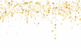 Stylish Gold Confetti Sequins Tinsels Scatter On White. Glittering New Year Vector Sequins Backgroun