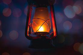 Vintage Lantern Close Up Background. Background Image Of Lantern. Vintage Lantern Background. Lanter