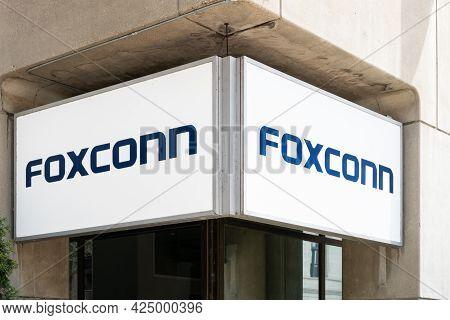 Foxconn Regional Headquarters Office Facility And Trademark Logo