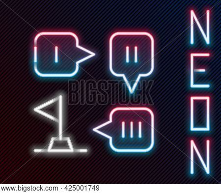 Glowing Neon Line Planning Strategy Concept Icon Isolated On Black Background. Formation And Tactic.