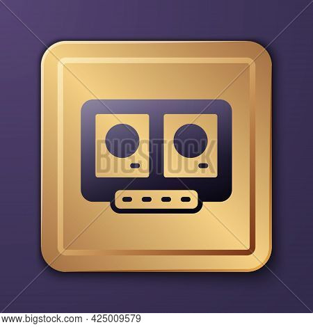Purple Dj Remote For Playing And Mixing Music Icon Isolated On Purple Background. Dj Mixer Complete