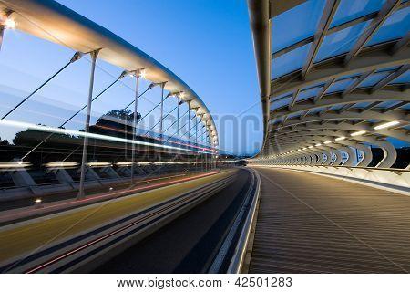 Bridge Of The Kaiku, Barakaldo, Bizkaia, Basque Country, Spain