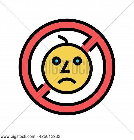 Child Prohibition Sign Color Icon Vector. Child Prohibition Sign Sign. Isolated Symbol Illustration
