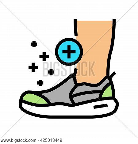Orthopedic Shoes For Feet Color Icon Vector. Orthopedic Shoes For Feet Sign. Isolated Symbol Illustr