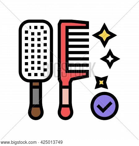 Comb Hairdresser Tool Color Icon Vector. Comb Hairdresser Tool Sign. Isolated Symbol Illustration