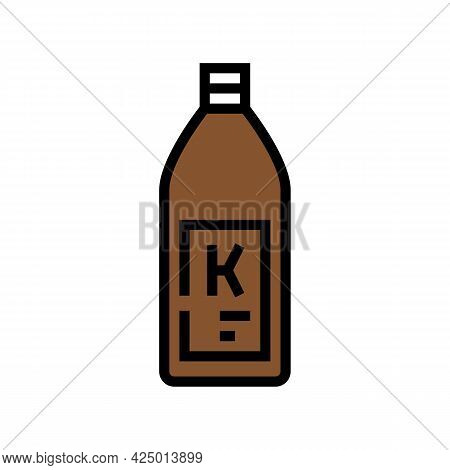 Shampoo Keratin Bottle Color Icon Vector. Shampoo Keratin Bottle Sign. Isolated Symbol Illustration