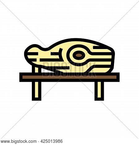 Wooden Handmade Sculpture Color Icon Vector. Wooden Handmade Sculpture Sign. Isolated Symbol Illustr