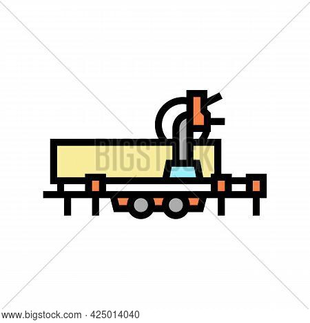 Saw Trailer Color Icon Vector. Saw Trailer Sign. Isolated Symbol Illustration