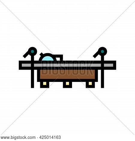 Saw For Cut Tree Timber Color Icon Vector. Saw For Cut Tree Timber Sign. Isolated Symbol Illustratio