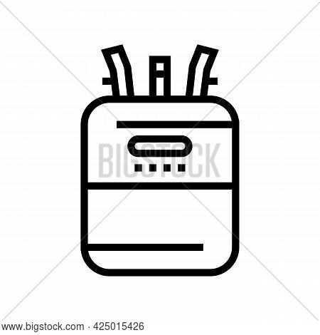 Helium Cylinder For Balloon Line Icon Vector. Helium Cylinder For Balloon Sign. Isolated Contour Sym