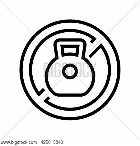 Weight Prohibition Sign For Safe Children Line Icon Vector. Weight Prohibition Sign For Safe Childre