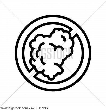 Smoking Prohibition Sign Line Icon Vector. Smoking Prohibition Sign Sign. Isolated Contour Symbol Bl