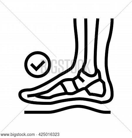 Healthy Bone Feet Line Icon Vector. Healthy Bone Feet Sign. Isolated Contour Symbol Black Illustrati