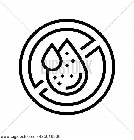 Formaldehyde Free Keratin Line Icon Vector. Formaldehyde Free Keratin Sign. Isolated Contour Symbol