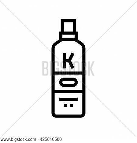 Cream Keratin Package Line Icon Vector. Cream Keratin Package Sign. Isolated Contour Symbol Black Il