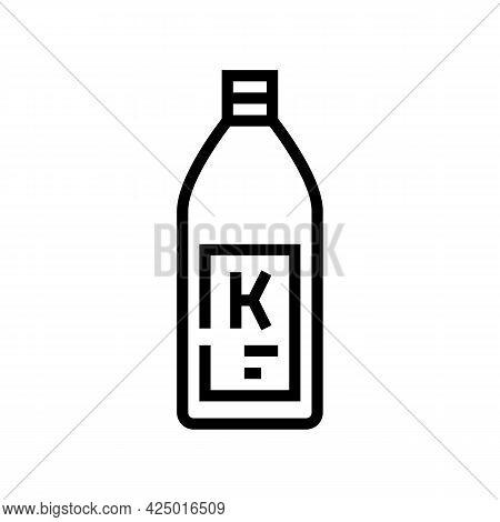 Shampoo Keratin Bottle Line Icon Vector. Shampoo Keratin Bottle Sign. Isolated Contour Symbol Black