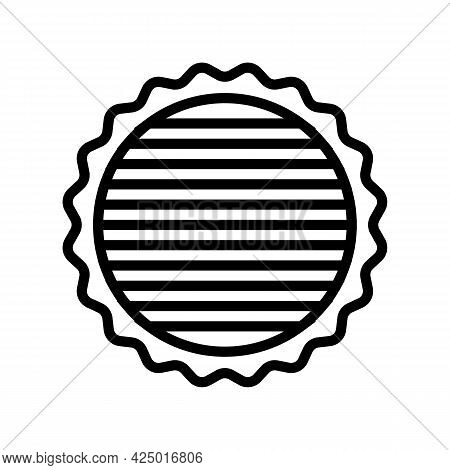 Tree Timber Line Icon Vector. Tree Timber Sign. Isolated Contour Symbol Black Illustration