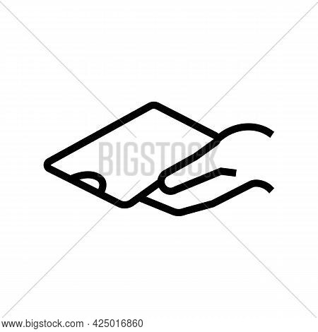 Phone Holding For Watching Video Line Icon Vector. Phone Holding For Watching Video Sign. Isolated C