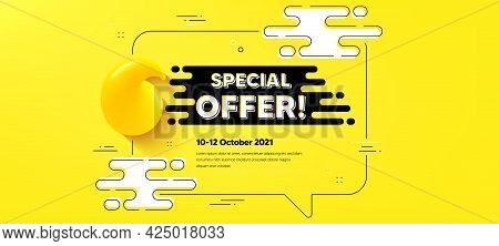 Special Offer Text. Quote Chat Bubble Background. Sale Sign. Advertising Discounts Symbol. Special O