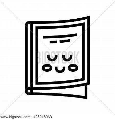 Magazine Children Library Line Icon Vector. Magazine Children Library Sign. Isolated Contour Symbol