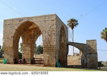 Ruins Of An Ancient City In The Achziv National Park On The Mediterranean Sea In Northern Israel