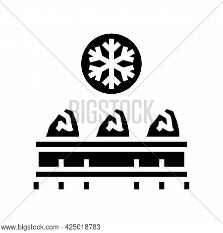 Frozen Chicken Carcass Meat Glyph Icon Vector. Frozen Chicken Carcass Meat Sign. Isolated Contour Sy