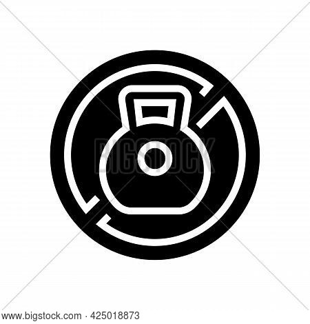 Weight Prohibition Sign For Safe Children Glyph Icon Vector. Weight Prohibition Sign For Safe Childr