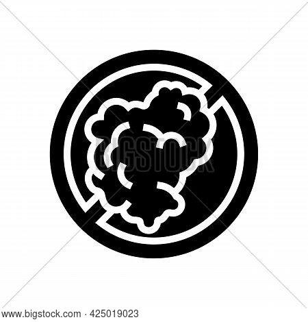 Smoking Prohibition Sign Glyph Icon Vector. Smoking Prohibition Sign Sign. Isolated Contour Symbol B