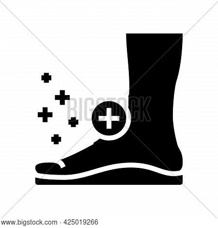 Orthopedic Insoles Tool For Flat Feet Therapy Glyph Icon Vector. Orthopedic Insoles Tool For Flat Fe