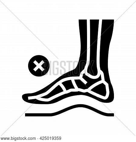 Bone Postural Deformity Feet Glyph Icon Vector. Bone Postural Deformity Feet Sign. Isolated Contour