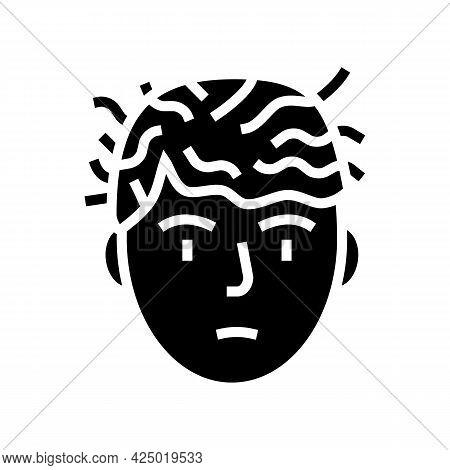 Woman Before Keratin Use Glyph Icon Vector. Woman Before Keratin Use Sign. Isolated Contour Symbol B