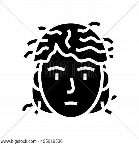 Man Before Keratin Use Glyph Icon Vector. Man Before Keratin Use Sign. Isolated Contour Symbol Black