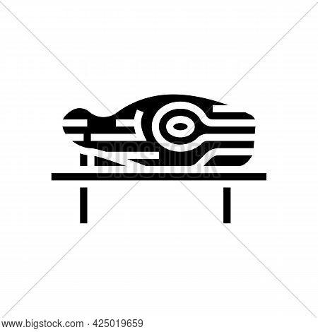 Wooden Handmade Sculpture Glyph Icon Vector. Wooden Handmade Sculpture Sign. Isolated Contour Symbol