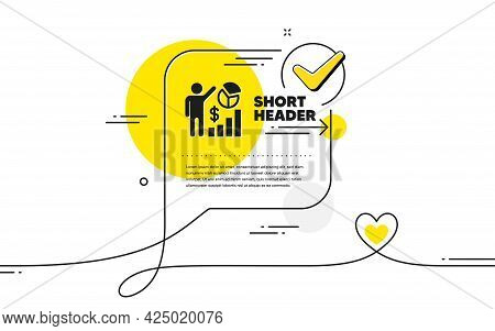 Seo Statistics Icon. Continuous Line Check Mark Chat Bubble. Search Engine Optimization Sign. Analyt