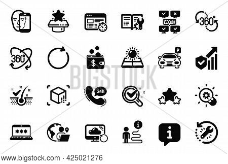 Vector Set Of Technology Icons Related To Anti-dandruff Flakes, Chemistry Lab And Engineering Docume